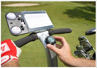 The built-in scorecard, pencil and golf ball holder of the Segway x2 Golf model.
