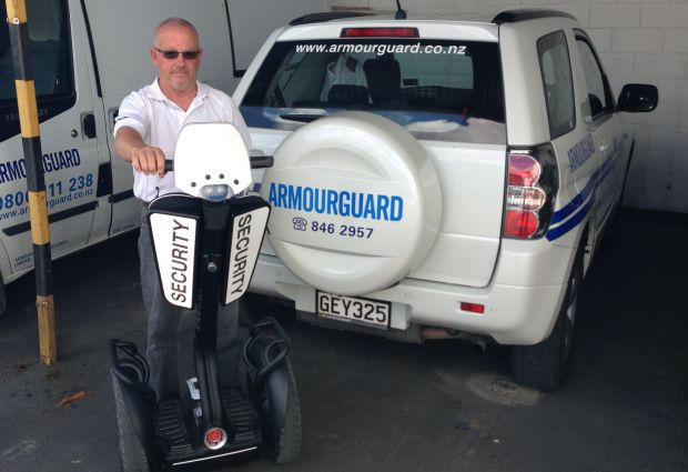 ADT Armourguard's new Segway i2 Patroller with Optic-White reflective shields