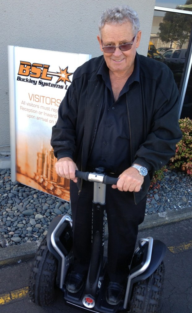 Bill Buckley on his Segway x2