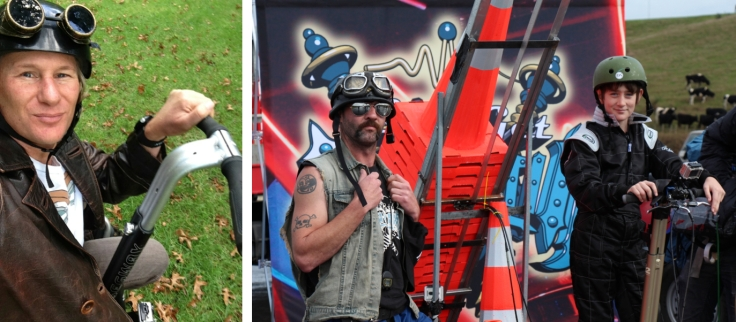 Steampunk Segway Riders: filming television show Let's Get Inventin' in Auckland last week