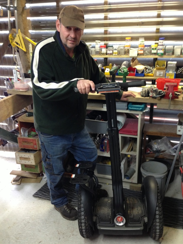 Forrest Hill Primary School property manager with his Segway i2