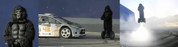 Gorilla on a Segway PT rocket