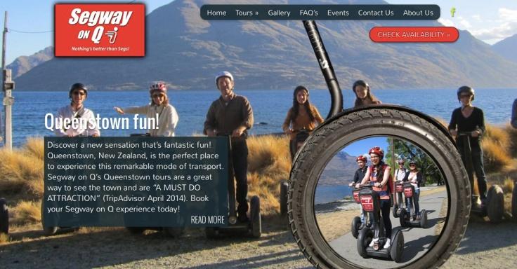 A screenshot from Segway On Q's website
