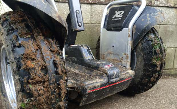 The new Segway x2 SE getting down and dirty in the mud on a dairy farm in New Zealand
