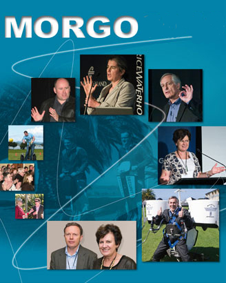 The Morgo promo graphic includes a photo of Seeby Woodhouse playing Segway Polo at the 2007 event (centre-left)