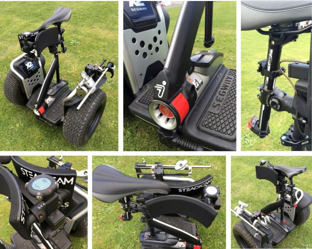 Segway hands-free kit for Steadicam and video/filming built by Geoff Andrew at Moving Media Limited (Hamilton)