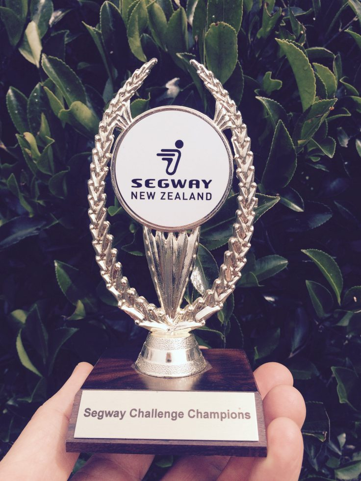 Will your team get to take home The Segway Challenge Champion Trophy?