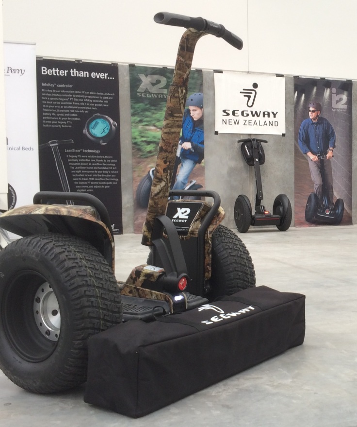 Camouflage Segway x2 Turf launched last week at a trade show in Hamilton.