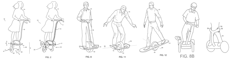 Some drawings from patents filed from 1999 onwards