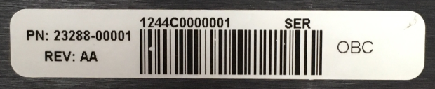Example of Off-Board Charger serial number sticker.png