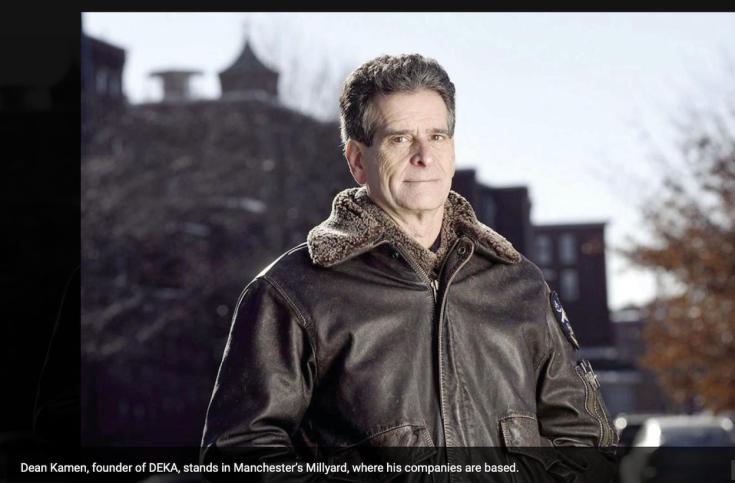 Dean Kamen outside Millyard March 2020.png