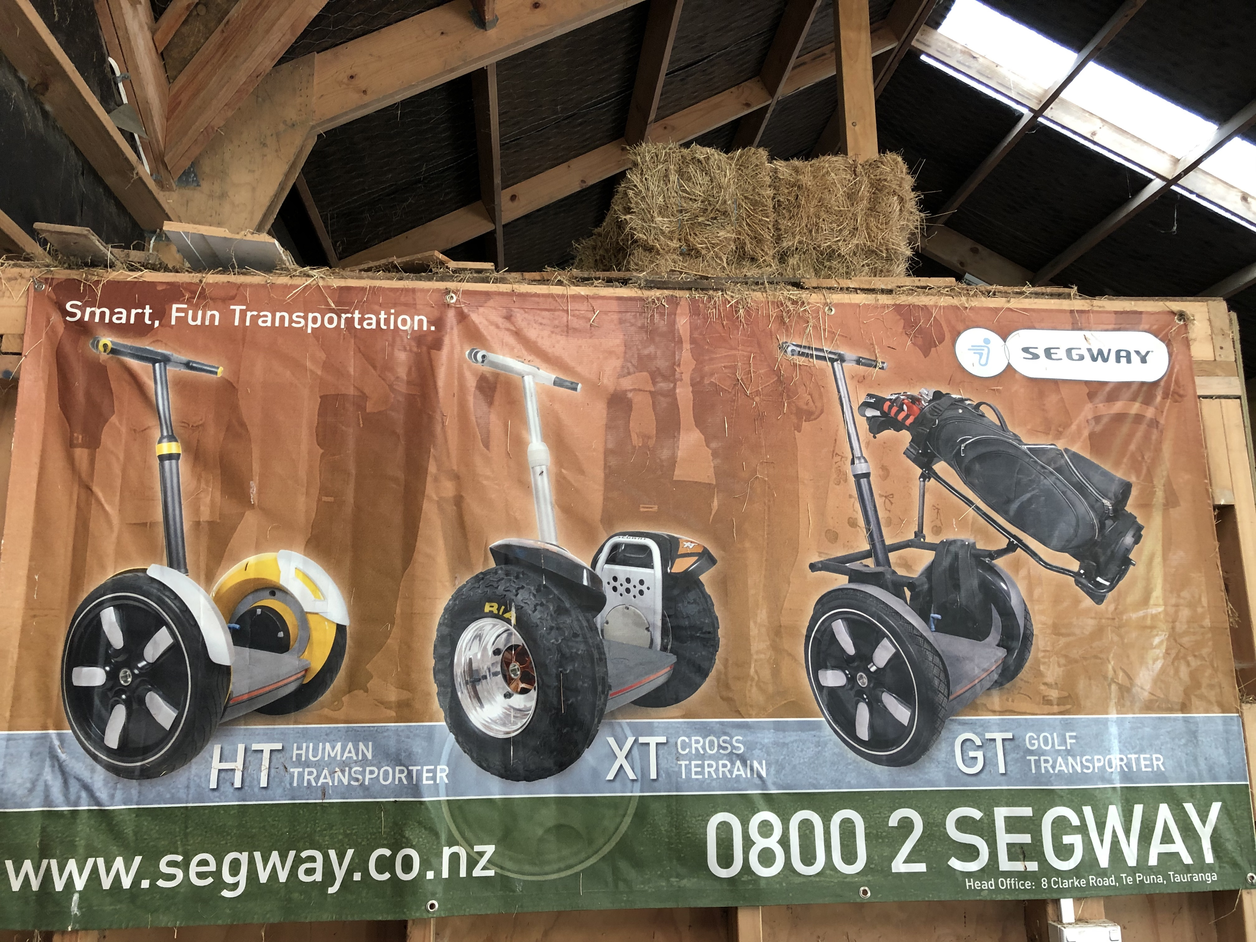 Segway banner 2005 hanging in stables.jpg